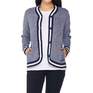 C. Wonder Marled Sweater Cardigan Navy